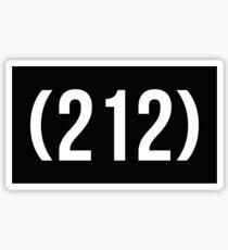 (212 ) Sticker