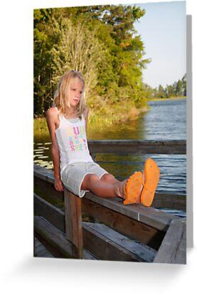 On the dock by Leta Davenport