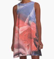 Color blot spots Imprint A-Line Dress