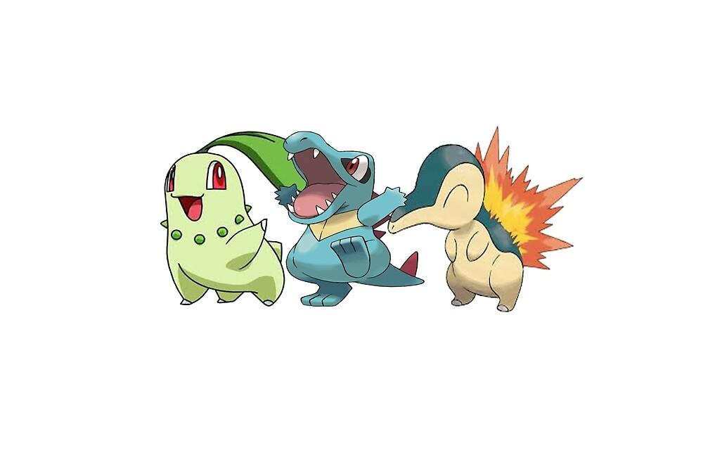 Pokemon - starter 2st gen by Xkaido
