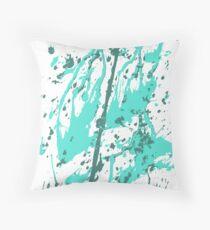color blot spots green Throw Pillow