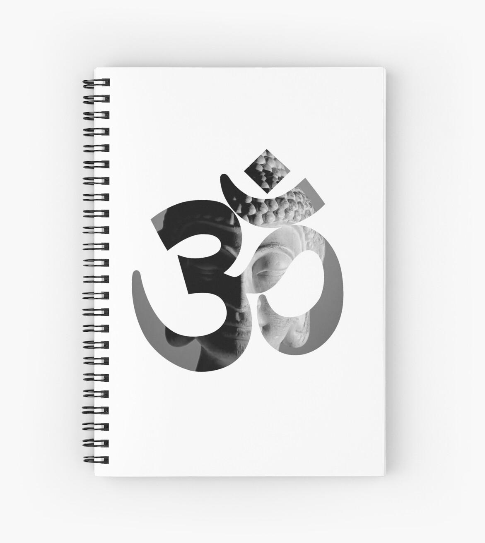Om Symbol With Black And White Buddha Background Inspirational