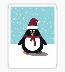 Holiday Penguin Sticker