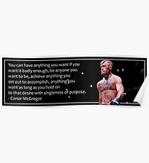 Conor McGregor Motivational Poster Poster