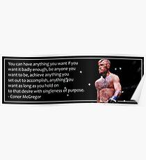 Conor McGregor Motivational Poster Poster