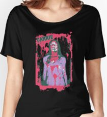 Scary Carrie (With Text) Women's Relaxed Fit T-Shirt
