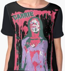 Scary Carrie (With Text) Women's Chiffon Top
