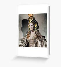 Elizabeth Taylor as Cleopatra Greeting Card