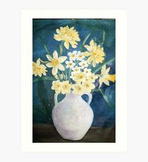 Evelyn's Daffodils Art Print