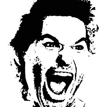 Jack Burton Scream Face by zombill