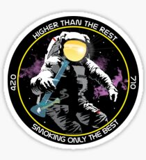 bong ripping astronaut  Sticker
