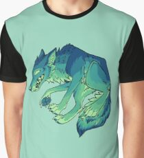 Teal Coyote Graphic T-Shirt