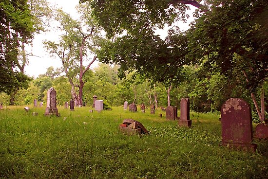 Graveyard  Tombstones In Summer 3  by gretassister