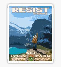 Protest Poster – Alt National Parks Resist(2017) Sticker