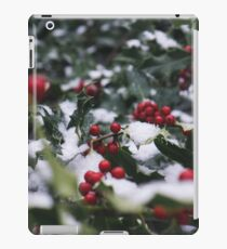 Holly in the Snow iPad Case/Skin