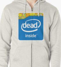 Intel Dead Inside Meme Zipped Hoodie