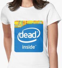 Camiseta entallada para mujer Intel Dead Inside Meme