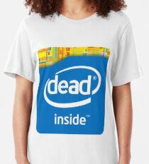 Intel Dead Inside Meme Slim Fit T-Shirt