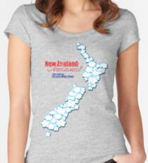 The Land of The Long White Cloud, New Zealand Women's Fitted Scoop T-Shirt
