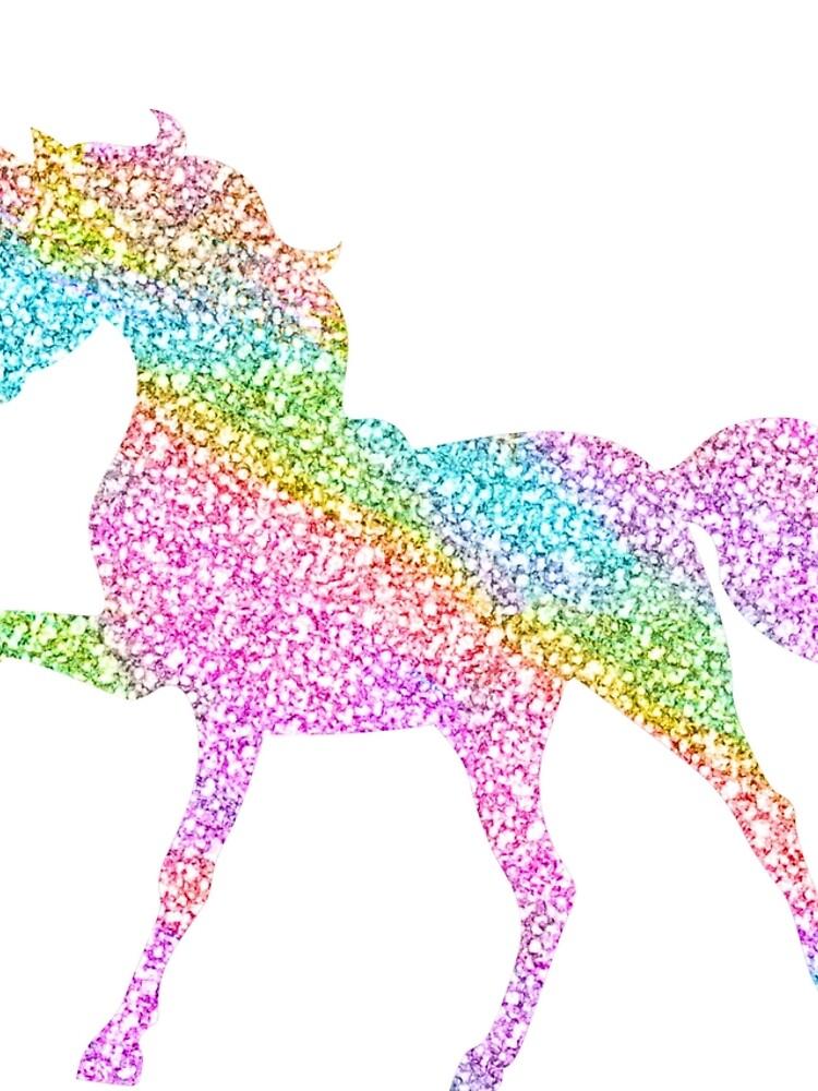 Sparkly Regenbogen Einhorn von jwyly12