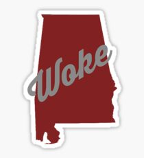 Woke Alabama - red Sticker