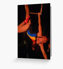 Anna Rocket trapeze Greeting Card