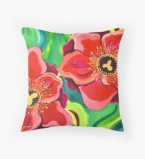 Red Poppies #2 Throw Pillow