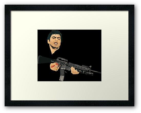 Scarface Tony Montana Framed Prints By Martianart Redbubble