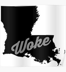 Louisiana - black and white Poster