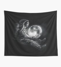 Moon Play Wall Tapestry