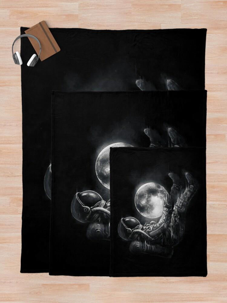 Alternate view of Moon Play Throw Blanket