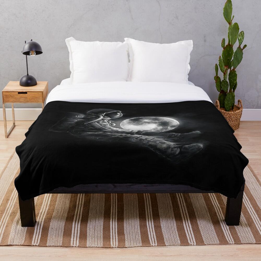 Moon Play Throw Blanket