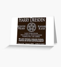 Harry Dresden - Wizard Detective Greeting Card