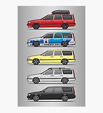 Stack of Volvo 850R 855R T5 Turbo Station Wagons Photographic Print