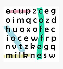 Coffee Word Search Photographic Print