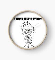 Calvin Hunts Selfie Sticks Clock