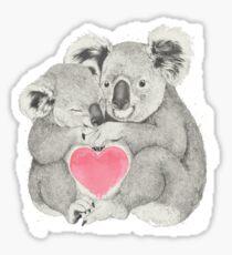 Koalas love hugs Sticker