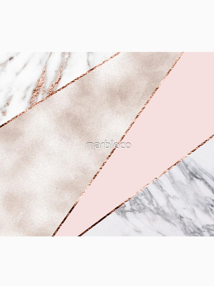 Gespleisst gemischter Roségoldmarmor von marbleco