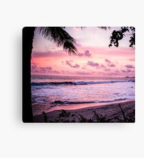 Palm Tree Beach Canvas Print