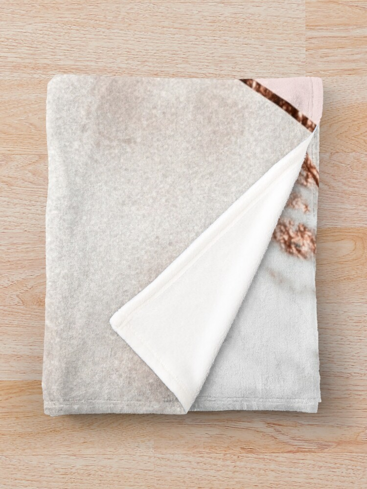 Alternate view of Spliced mixed rose gold marble Throw Blanket