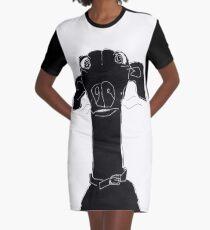 neck Graphic T-Shirt Dress
