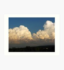 Whipped Cream Sky ~ Hamburg, NY Art Print