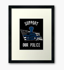 Support Our Police Framed Print
