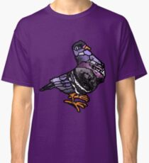 Patchwork coloured pigeon Classic T-Shirt