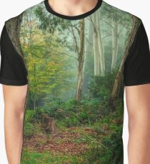 In The Mist - Mount Wilson and Mount Irvine Graphic T-Shirt