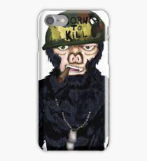 Full Metal Jacket Chimp iPhone Case/Skin