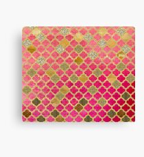 Faded red and bronze moroccan tiles Canvas Print
