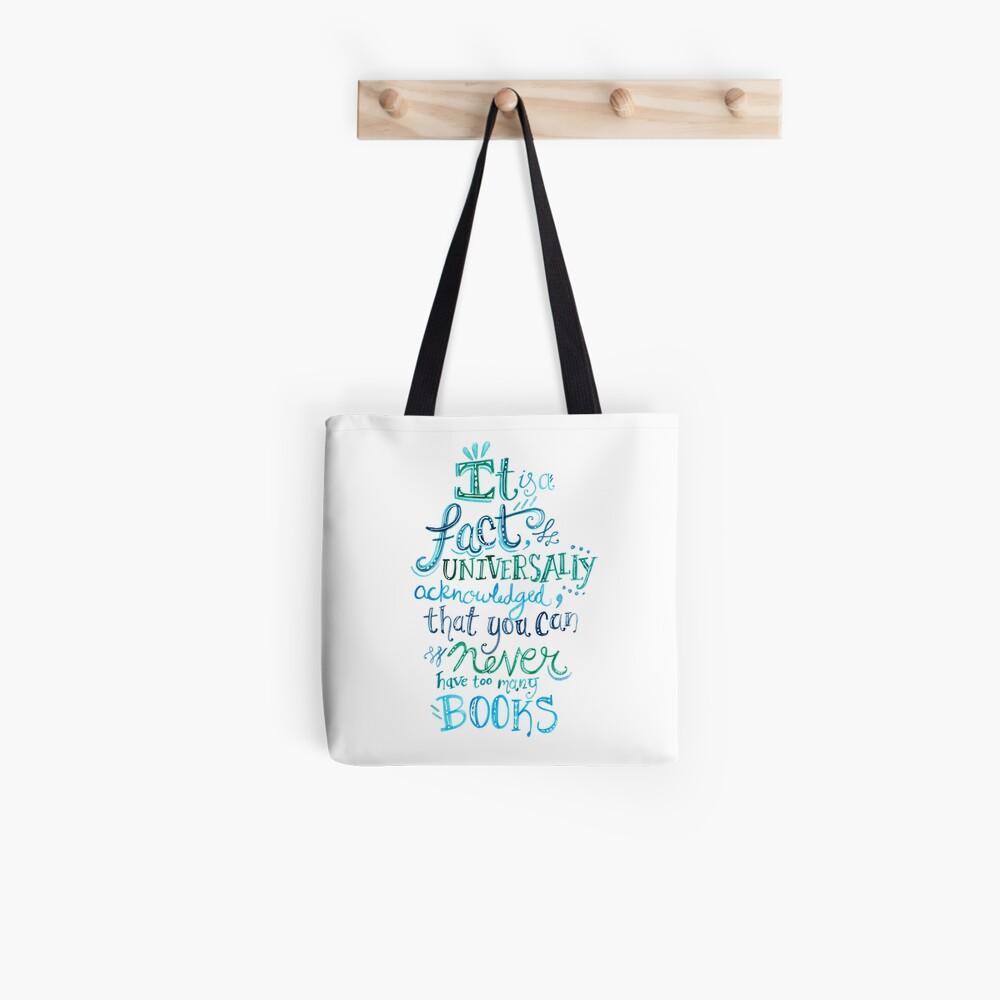 Sie können nie zu viele Bücher haben - Illustrated Quote Tote Bag