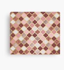 Warm rose gold moroccan  Canvas Print