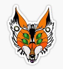 Punk Fox In Color Sticker